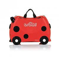 Дорожный чемоданчик для детей Божая Коровка trunki Harley Lady Bug 092 , фото 1