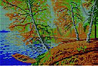 Схема для вышивки бисером Березки у пруда (полная зашивка) КМР 4059