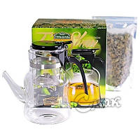 Подарочный Набор ТЯНЬ ШАНЬ чайник Гунфу + зеленый чай 100г