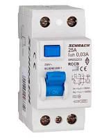 Устройство защитного отключения 10кА/30мА 2P 25А тип AC Schrack