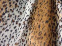 Трикотажное полотно флис пэ, набивка леопардовая