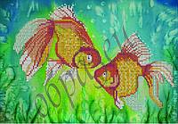 Схема для вышивки бисером Золотые рыбки КМР 4071