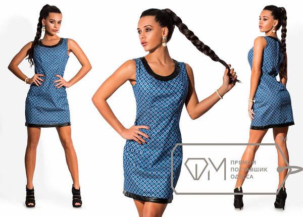 Джинсовое платье с узором, фото 2