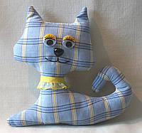 Мягкая игрушка ручной работы кот Сильвер