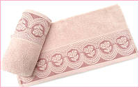 Махровое полотенце 70х140  Arya  Bella пудра