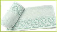 Махровое полотенце 70х140  Arya  Bella зеленое