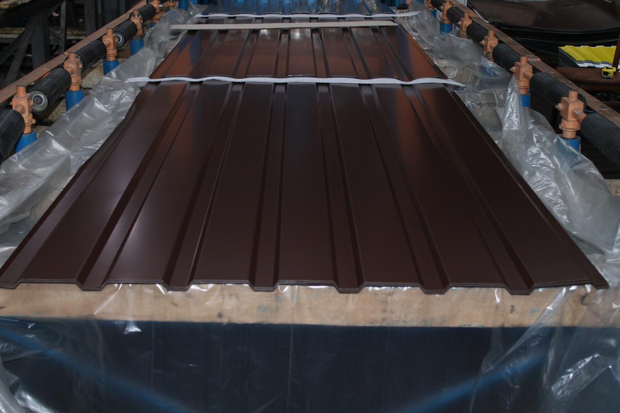 Профнастил С-15 RAL 8017(коричневий) товщина 0,4