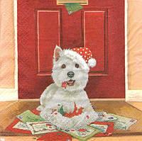 Декупажная салфетка Новогодние поздравления 5907