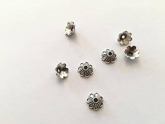Заготовки для браслетів.Колір античне срібло. 9мм