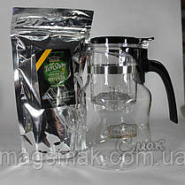 Подарочный Набор ТЯНЬ ШАНЬ чайник Гунфу + зеленый чай 100 г, фото 3