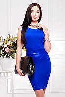 Коктейльное платье Марта электрик 42-50 размеры