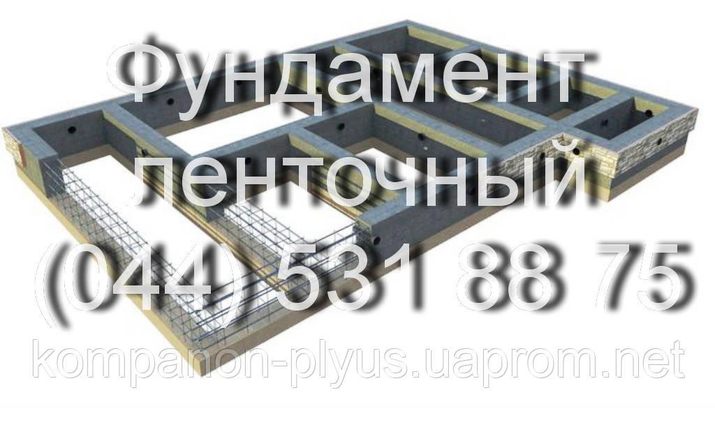Фундамент ленточный Заливка фундамента