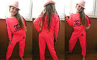 """Яркий, модный, спортивный костюм на девочку """"Chanel"""" РАЗНЫЕ ЦВЕТА размер 104-126"""