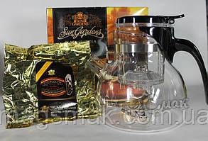 Подарочный Набор Sun Gardens чайник Гунфу + черный чай 100 г, фото 3