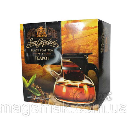 Подарочный Набор Sun Gardens чайник Гунфу + черный чай 100г, фото 2