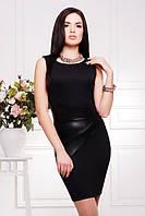 Коктейльное черное платье Марта 42-50 размеры