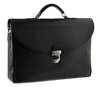Кожаный мужской портфель BLAMONT Bn045 черный