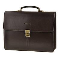 Кожаный мужской мужской портфель BLAMONT Bn047 коричневый