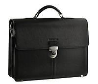 Кожаный мужской мужской портфель BLAMONT Bn047 черный