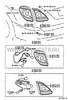 Фонарь задний правый внутренний LEXUS RX300 2000-2003 г. в. Оригинал 81581-48040