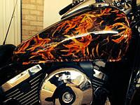 Покраска мотоцикла Аквапринт Аквапечать Харьков