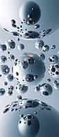 Фотообои на двери Серебренные шары размер 200 х 86 см