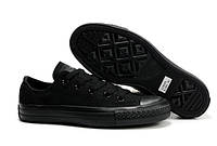 Кеды Converse Chuck Taylor All Star Low Mono Black, фото 1