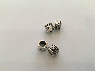 Фурнітура для браслетів металеві. Колір античне срібло. 8,4 мм