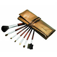 Набор кистей для макияжа  MAC 7 шт. в золотом чехле,магазин косметики