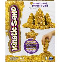Песок для детского творчества - KINETIC SAND METALLIC (золотой, 454 г)