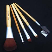 Набор кистей для макияжа 5 штук ECOTOOLS с бамбуковыми ручками,магазин косметики