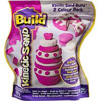 Песок для детского творчества - KINETIC SAND BUILD (белый - 227 г, розовый - 227 г)