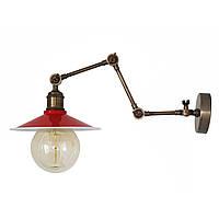 Настенно-потолочный светильник купол Loft Steampunk [ on Wall Ceiling Red & White ] ( 4-х поворотный )