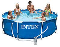 Каркасный бассейн Intex 28202 Metal Frame 305 х76 см + ф-р насос