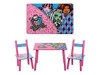 """Столик и 2 стульчика Bambi """"Monster High"""" M 2328"""