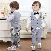 Детский трикотажный костюм тройка на мальчика