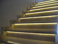 Светодиодная подсветка ступеней, плинтусов, лестниц