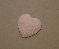 Сердце, пластик, 3 см, цвет персиковый