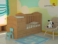 """Детская кровать-трансформер """"Mila"""", Lanami, Ольха (от 0 до 12 лет)"""