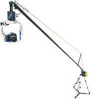 Кран для професиональной киносъемки POLEJIB 24ft (7.3 м) с панорамирующей головкой