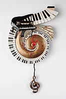 Часы настенные с маятником  Фортепиано