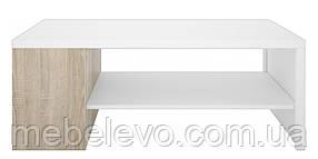 Гербор Непо стол журнальный LAW120  450х560х1200мм дуб сонома + белый