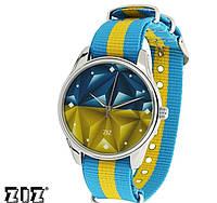 """Часы наручные ZIZ """"Флаг треугольники"""" нейлон"""