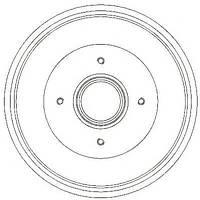 AP 7D0396 = DB4373 = JR 329732J Тормозной барабан