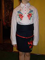 Блузка школьная с вышивкой