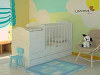 """Детская кровать-трансформер """"Mila"""", Lanami, Белый (от 0 до 12 лет)"""