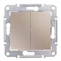 Выключатель двухклавишный, Schneider Electric, серия Sedna,  IP20, без рамки