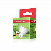 LED Лампа ЕКО MR16 5W GU5.3 4000K EUROLAMP