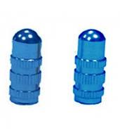 Колпачок для камеры TW V-24-1 синего цвета из алюминия.На ниппель Presta. В комплекте 4 шт.
