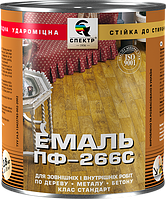 """Эмаль алкидная для пола ПФ-266 , 0,9 кг, жёлто-коричневая """"Орех"""""""